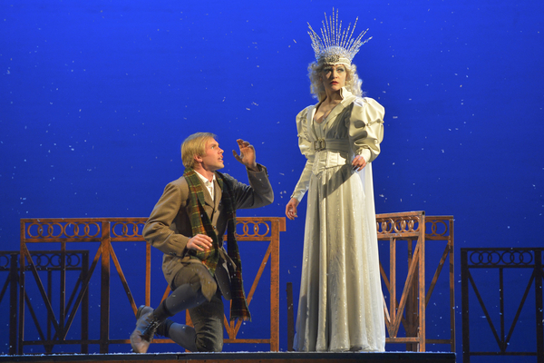 Tim Homsley and Jane Pfitsch in a scene from The Snow Queen, which will play as part of NYMF from July 14-20.