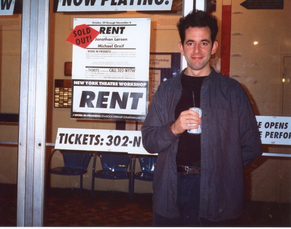 Jonathan Larson at New York Theatre workshop where Rent made its off-Broadway debut.