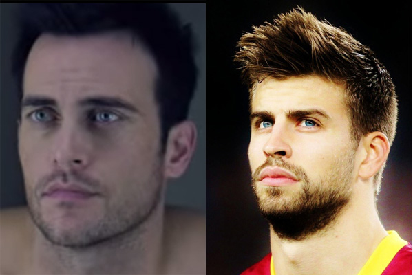 Cheyenne Jackson/Gerard Pique of Team Spain