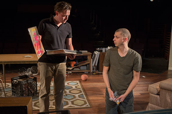Kieran Culkin as Dennis and Michael Cera as Warren in Kenneth Lonergan's This Is Our Youth, directed by Anna D. Shapiro, at Chicago's Steppenwolf Theatre