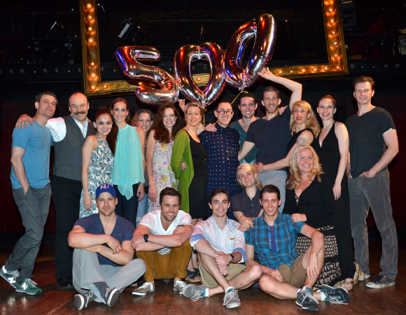 Alan Cumming and the cast of Cabaret  toast Cumming's 500th performance as the Emcee.