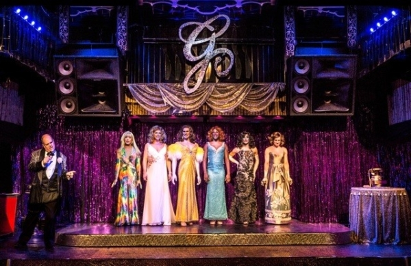 A scene from Pageant — The Musical at the Red Lacquer Club at Lucky Cheng's.