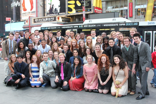 The 2014 Jimmy Awards finalists take in Times Square.