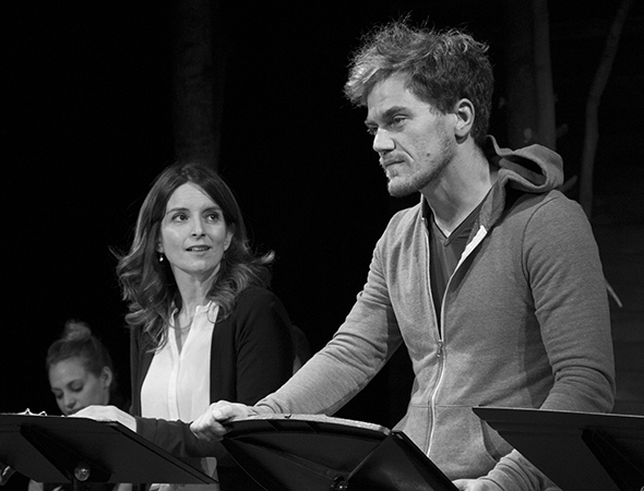 Tina Fey and Michael Shannon in Indigo Theatre Project's reading of Craig Lucas' Reckless in October 2013.