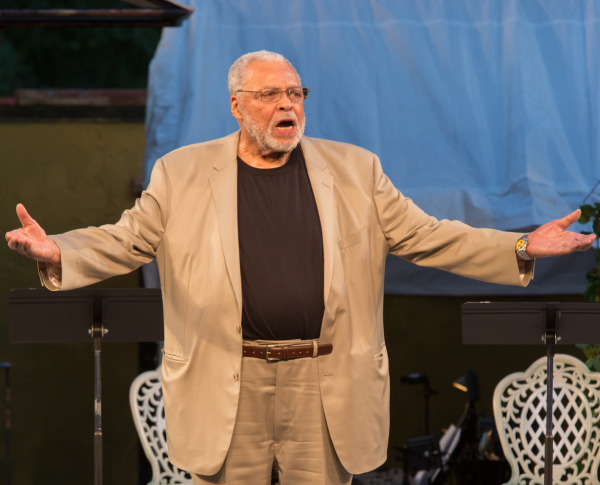 James Earl Jones performs a scene from Othello at The Public Forum's Shakespeare in America.