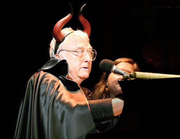Randy Newman as the Devil in the Encores! Off-Center production of Randy Newman's Faust: The Concert.