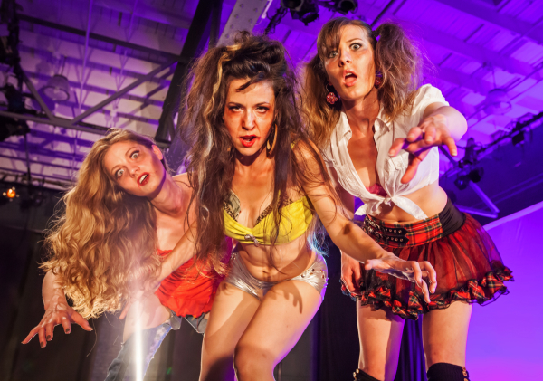 Malia Tippets, Megan Misslin, and Gina Morris star in Mark LaPierre's Zombie Strippers, directed by Diane Englert, at NYMF.