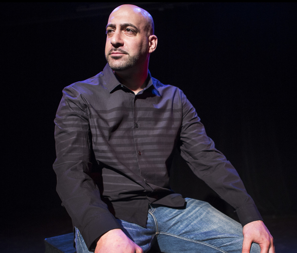 Joe Assadourian stars in his one-man show The Bullpen, directed by Richard Hoehler, at the Playhouse Theater.