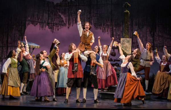 The company of Lerner and Loewe's Brigadoon at the Goodman Theatre.