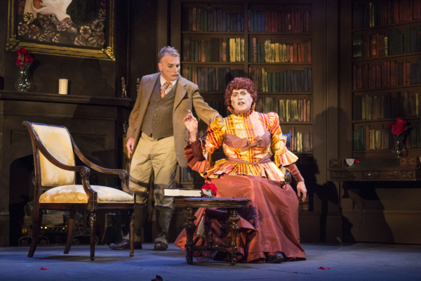 Bill Bowers and Tom Hewitt appear in multiple roles in The Mystery of Irma Vep, directed by Aaron Mark, at Berkshire Theatre Group.