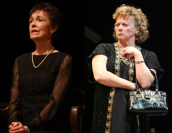Deanna Dunagan as Violet Weston and Rondi Reed as Mattie Fae Aiken in Tracy Letts' August: Osage County.