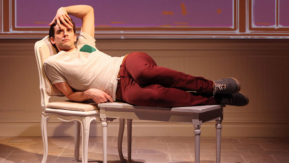 Michael Urie in a performance of Jonathan Tolins' Buyer & Cellar at New York's Barrow Street Theatre.