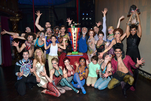 The cast of Pippin shows off their Fosse hands.