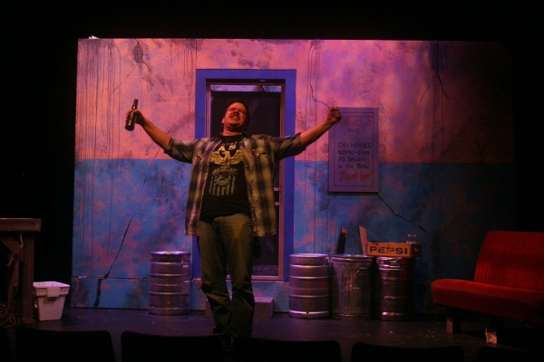 Mike Schraeder as Roy in James McLure's Lone Star, directed by Cynthia Hestand, at the Clurman Theatre.