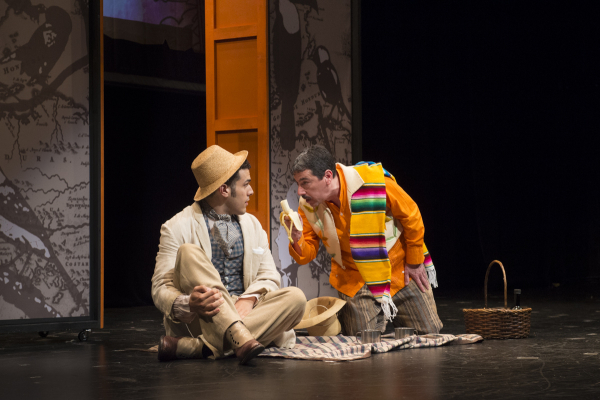 Joel Perez and Tony Chiroldes star in Kevin Purcell and Victor Kazan's The Mapmaker's Opera, directed by Donald Brenner, at PTC Performance Space as part of the 2014 New York Musical Theatre Festival.