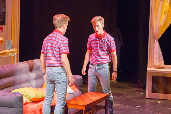 Eric Mann and Alex Goley in Cloned! at the Pershing Square Signature Center, a production of the 2014 New York Musical Theatre Festival.