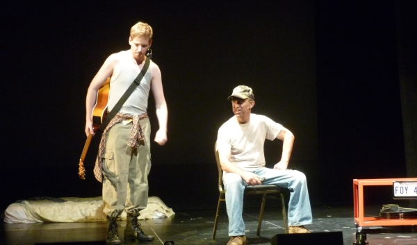 Graham Scott Fleming and Jay Thomas in Somewhere With You at the Pershing Square Signature Center, a production of the 2014 New York Musical Theatre Festival.