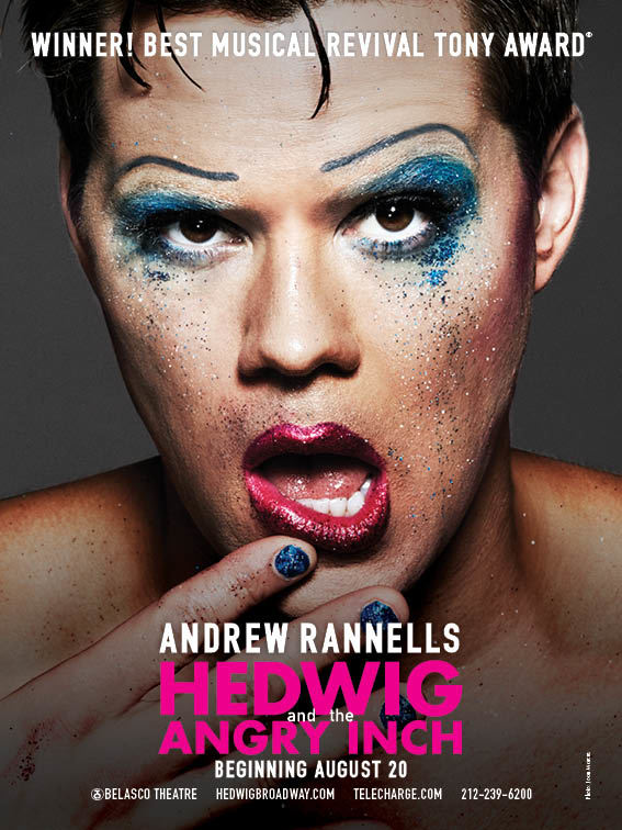 Andrew Rannells will take on the title role in Hedwig and the Angry Inch beginning August 20.