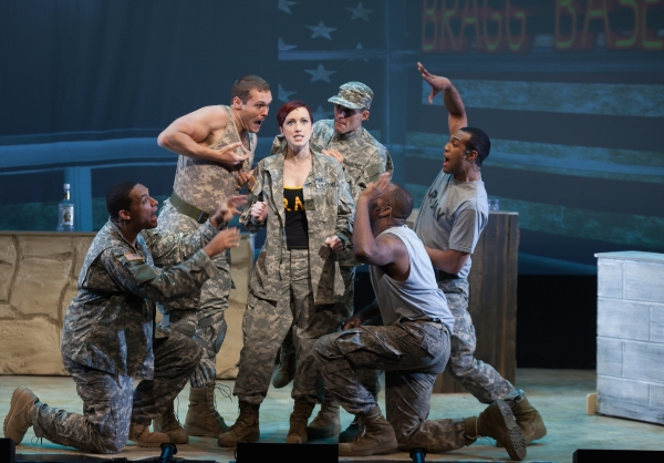 Janice Landry star in Jessy Brouillard's Deployed, directed by Mindy Cooper, at The Pershing Square Signature Center as part of the 2014 New York Musical Theatre Festival.