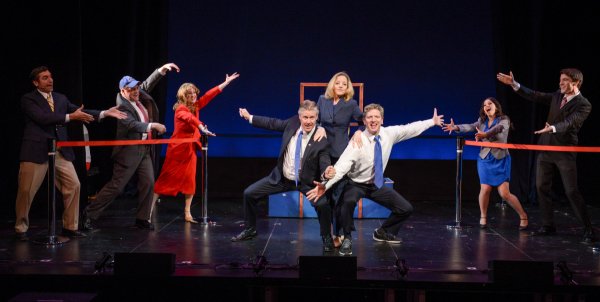 The Cast of Michael and Paul Hodge's Clinton, directed by Adam Arian, at the Pershing Square Signature Center as part of the 2014 New York Musical Theatre Festival.