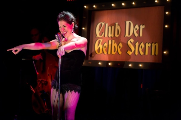 Alexis Fishman as Erika Stern in Der Gelbe Stern, directed by Sharone Halevy, at the Laurie Beechman Theatre.