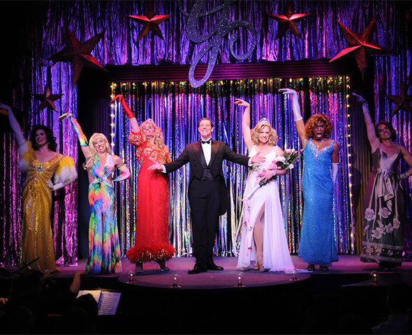 The cast of Pageant at the Davenport Theatre.
