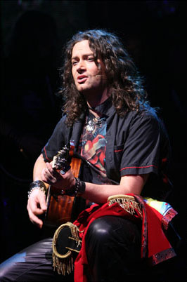 Constantine Maroulis as Drew in Broadway's Rock of Ages.