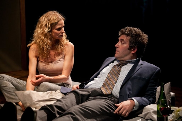 Kyra Sedgwick and Craig Bierko in The Danish Widow, playing from July 16-27 as part of New York Stage and Film's Powerhouse Theater season at Vassar College.