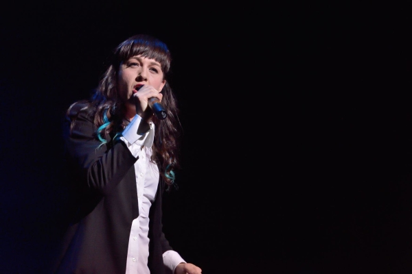 Hedwig and the Angry Inch Tony winner Lena Hall performed at the New York Civil Liberties Union's Broadway Stands Up for Freedom concert on June 21.