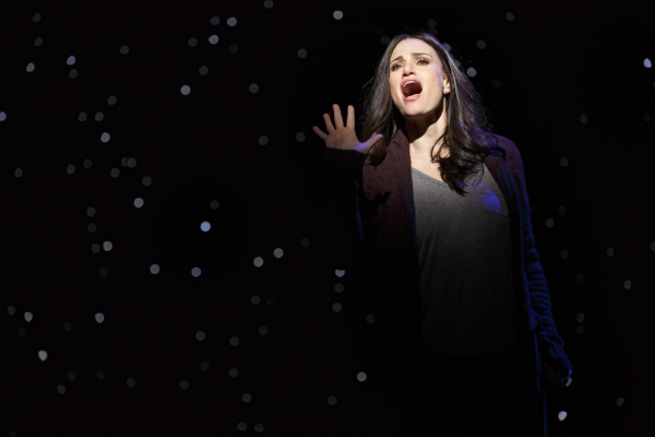 Idina Menzel performs in Broadway's If/Then at the Richard Rodgers Theatre.