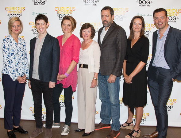 The cast and creative team of The Curious Incident of the Dog in the Night-Time.