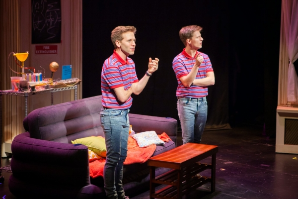 Eric Mann (l) as Clone Wally and Alex Goley as Wally in Cloned!