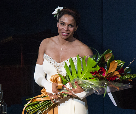 Audra McDonald earned her record-breaking sixth Tony Award for her performance in Lady Day at Emerson's Bar & Grill.