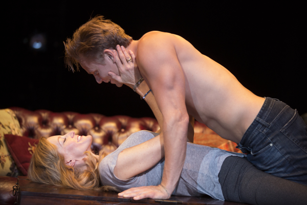Anna Gunn and Billy Magnussen star in Laura Eason's Sex With Strangers, directed by David Schwimmer, at Second Stage Theatre.