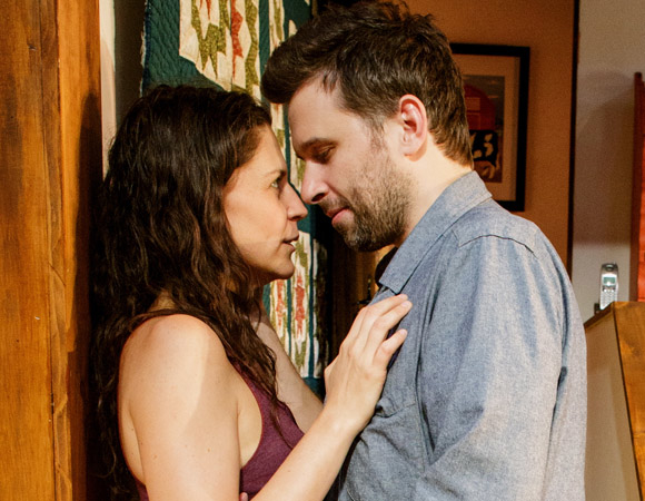 Katie Kreisler and Brian Avers in the New York premiere of Theresa Rebeck's Poor Behavior.