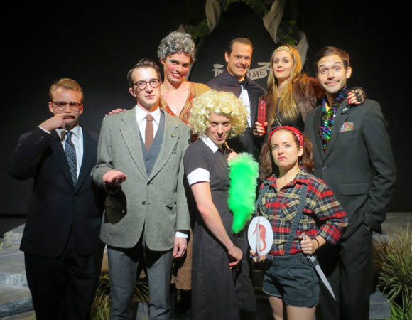 3.	The cast of Pickles & Hargraves and the Curse of the Tanzanian Glimmerfish, directed by Rob Ribar, at FringeNYC.