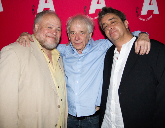 Leading man Stephen McKinley Henderson poses with director Austin Pendleton and playwright Stephen Adly Guirgis.