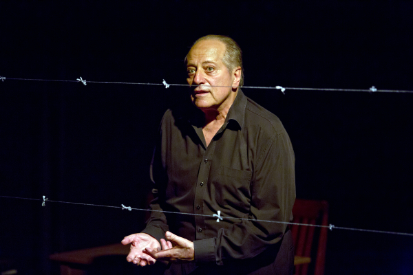 Saul Reichlin as Milos Dobry in the American premiere of The Good and the True, directed by Daniel Hrbek, at DR2 Theatre.