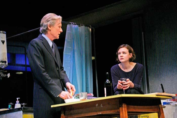 Bill Nighy as Tom and Carey Mulligan as Kyra in Stephen Daldry's production of David Hare's Skylight at Wyndham's Theatre.