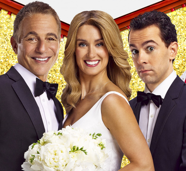 Tony Danza, Brynn O'Malley, and Rob McClure star in Jason Robert Brown and Andrew Bergman's Honeymoon in Vegas at the Brooks Atkinson Theatre.