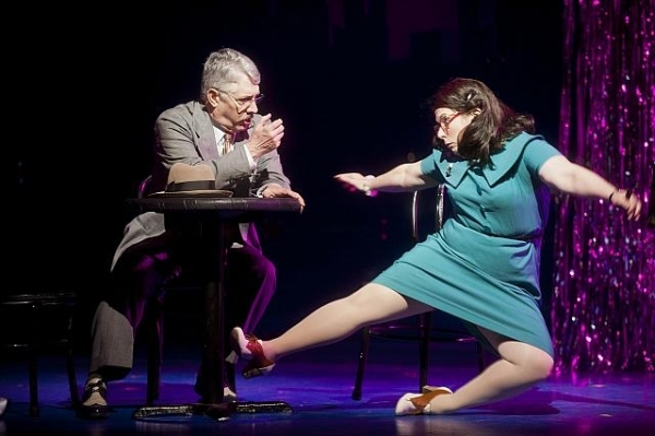 Michael Rupert as Judge Pitkin and Allison Guinn as Lucy in the Barrington Stage Company production of On the Town, directed by John Rando, lighting up Broadway's Lyric Theatre this September.