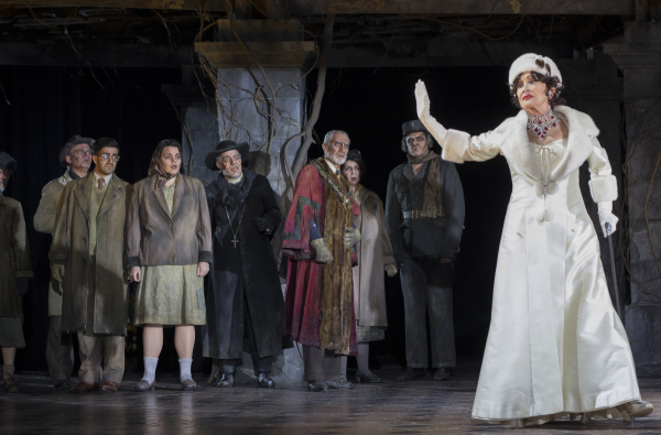 Chita Rivera and the cast of The Visit, directed by John Doyle, at Williamstown Theatre Festival.