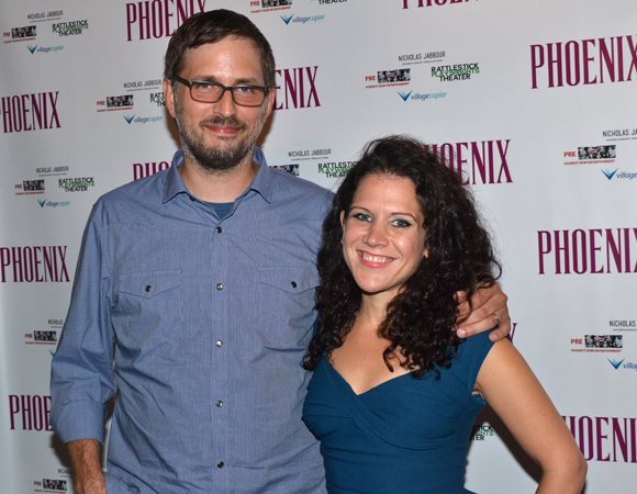 Phoenix playwright Scott Organ with director Jennifer DeLia before the performance.