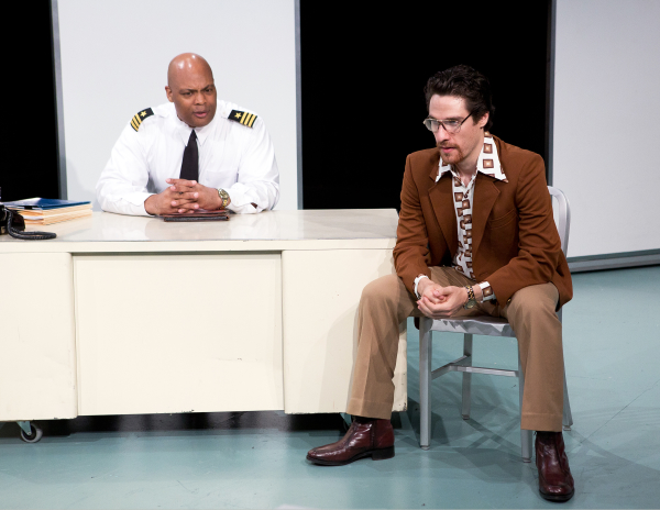 André Ware and Ben Mehl star in Martin Blank's The Law of Return, directed by Elise Thoron, at the 4th Street Theatre.
