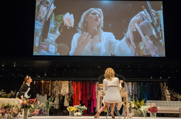 Isabelle Huppert and Cate Blanchett star in Sydney Theatre Company's revival of Jean Genet's The Maids, as part of the Lincoln Center Festival at New York City Center.