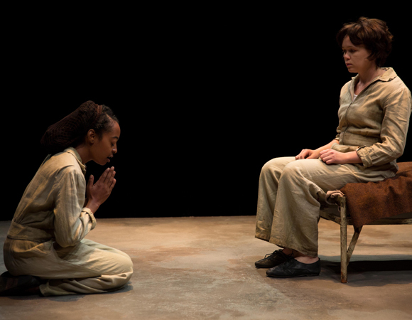 Trae Harris as Young Jamie and Emily Skeggs as Young Dee in Naomi Wallace's And I And Silence, directed by Caitlin McLeod, at Signature Theatre.