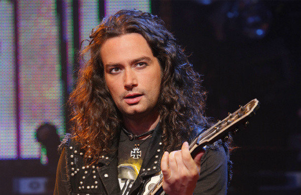 Constantine Maroulis as Drew in Broadway's Rock of Ages, directed by Kristin Hangii, at the Helen Hayes Theatre.