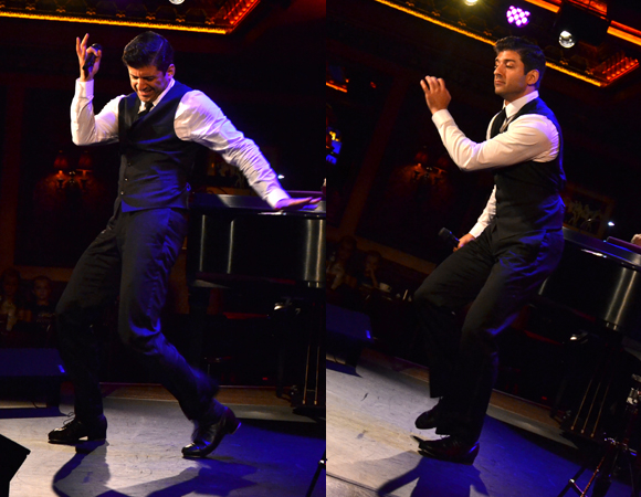 Tony Yazbeck tapping in his 54 Below debut show, The Floor Above Me.