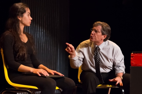 Octavia Chavez-Richmond and Gary De Mattei star in Kate Ballen's No One Asked Me, directed by Matthew Newton, at the Flamboyan Theatre as part of the 2014 New York International Fringe Festival.