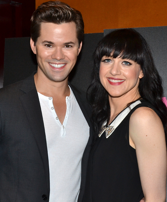 The new Hedwig and the Angry Inch glamour couple Andrew Rannells and Lena Hall.